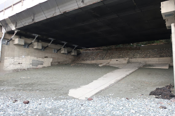西湘バイパス下に小径