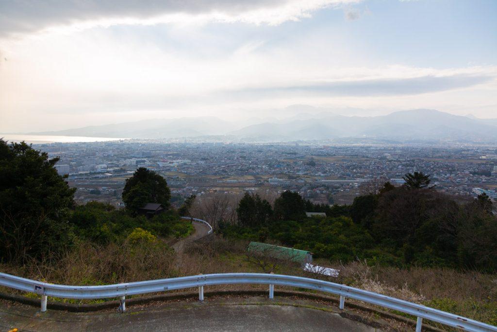 曽我梅林 見晴台からの相模湾と小田原・箱根