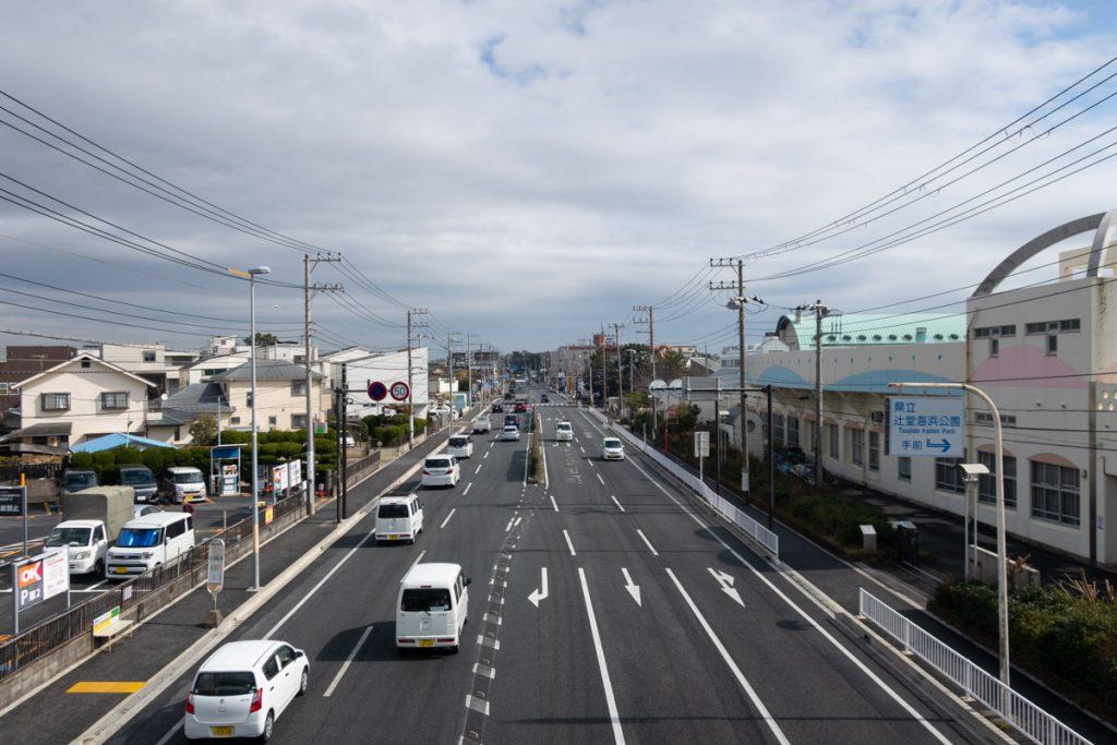 高砂歩道橋 藤沢方面